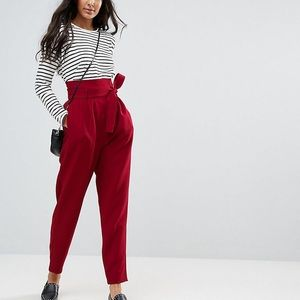 ASOS tall red trousers